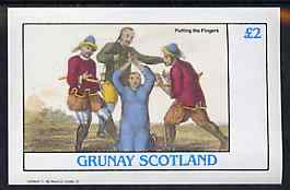 Grunay 1982 The Orient (Putting the Fingers) imperf deluxe sheet (�2 value) unmounted mint