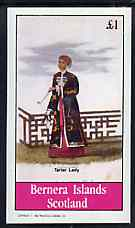 Bernera 1982 Chinese Life (Tartar Lady) imperf souvenir sheet (�1 value) unmounted mint