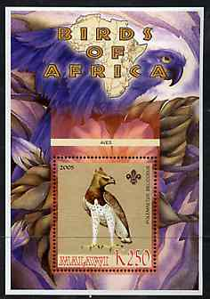 Malawi 2005 Birds of Africa - Martial Eagle perf m/sheet with Scout Logo, unmounted mint