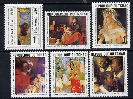 Chad 1969 World Solidarity (Paintings) set of 6 unmounted mint, SG 267-72