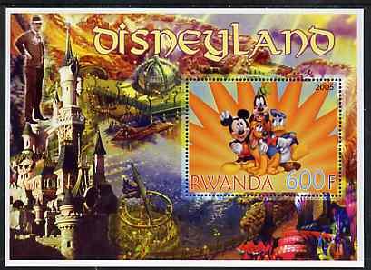 Rwanda 2005 Disneyland perf m/sheet unmounted mint