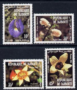 Djibouti 1981 Flowers set of 4 unmounted mint (SG 831-4)