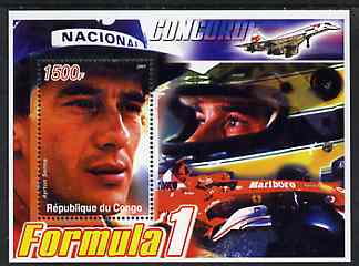 Congo 2005 Formula 1 - Ayrton Senna perf souvenir sheet unmounted mint