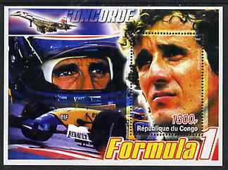 Congo 2005 Formula 1 - Alain Prost perf souvenir sheet unmounted mint