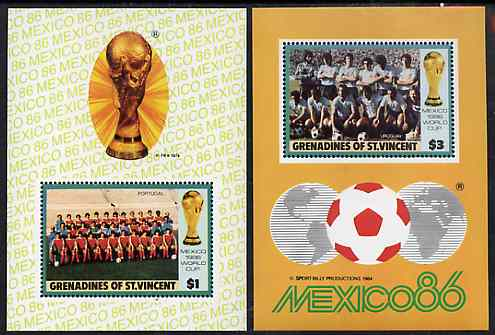 St Vincent - Grenadines 1986 World Cup Football the set of two m/sheets unmounted mint SG MS 476