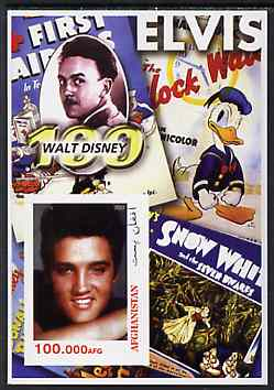 Afghanistan 2003 Walt Disney & Elvis #1 imperf souvenir sheet unmounted mint