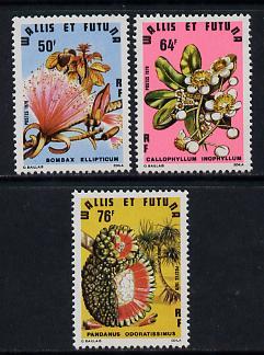 Wallis & Futuna 1979 Flowering & Fruiting Trees set of 3 unmounted mint, SG 319-21