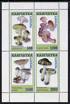 Kamchatka Republic 1999 ? Fungi perf sheetlet containing complete set of 4 values (green frame) unmounted mint