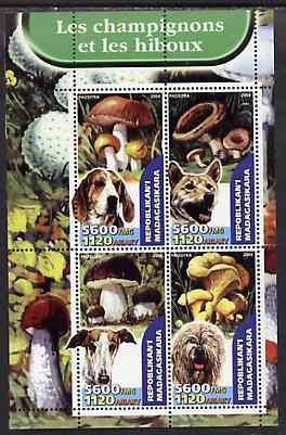 Madagascar 2004 Fungi & Dogs perf sheetlet containing set of 4 values unmounted mint