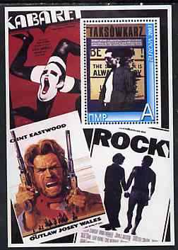 Dnister Moldavian Republic (NMP) 2003 Europa (Movie Posters) - Josey Wales, Rocky etc perf souvenir sheet unmounted mint