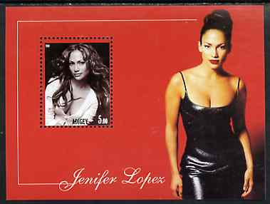 Adigey Republic 2001 Jennifer Lopez perf m/sheet unmounted mint