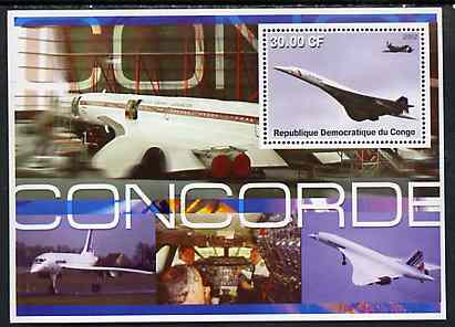 Congo 2002 Concorde perf s/sheet #01 unmounted mint