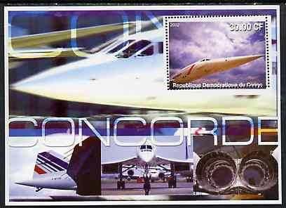 Congo 2002 Concorde perf s/sheet #02 unmounted mint