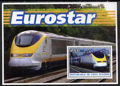 Ivory Coast 2003 Eurostar perf m/sheet unmounted mint