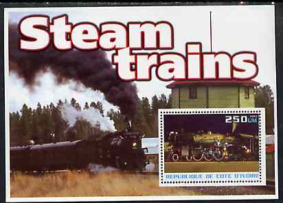 Ivory Coast 2003 Steam Trains #1 perf m/sheet unmounted mint