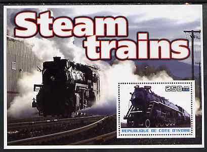 Ivory Coast 2003 Steam Trains #2 perf m/sheet unmounted mint