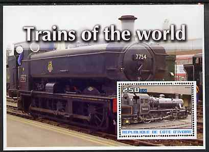 Ivory Coast 2003 Trains of the World #1 perf m/sheet unmounted mint