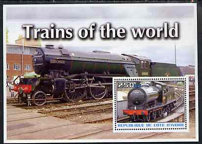 Ivory Coast 2003 Trains of the World #2 perf m/sheet unmounted mint