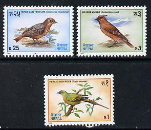 Nepal 1992 Birds set of 3 unmounted mint, SG 540-42*