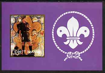 Chakasia 2000 Scouts (with Scout Badge by Norman Rockwell) rouletted m/sheet unmounted mint