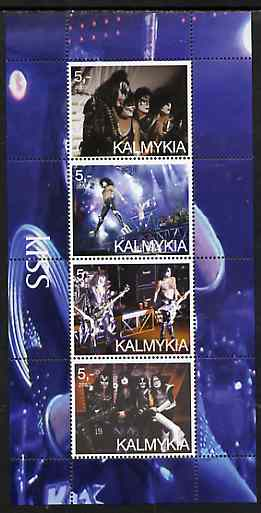 Kalmikia Republic 2003 Kiss perf sheetlet containing 4 values unmounted mint