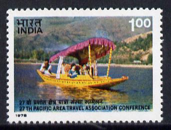 India 1978 Travel Association (Shikara) unmounted mint SG 876*