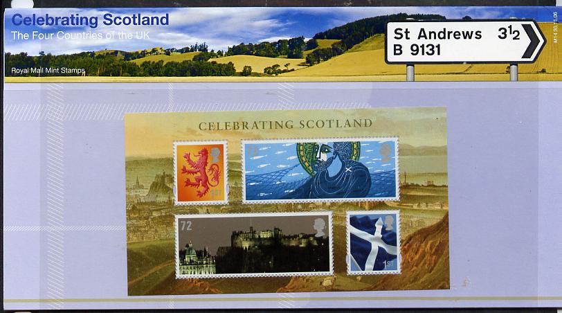 Great Britain 2006 Celebrating Scotland perf m/sheet in official presentation pack unmounted mint SG MS S133