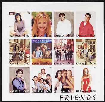 Karjala Republic 2001 Friends (TV Series) imperf sheetlet containing 12 values unmounted mint