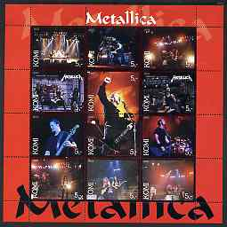 Komi Republic 2003 Metallica perf sheetlet containing 12 values unmounted mint