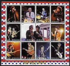 Buriatia Republic 2000 Rolling Stones perf sheetlet containing 12 values unmounted mint