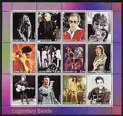 Udmurtia Republic 2001 Legendary Bands #1 perf sheetlet containing 12 values unmounted mint