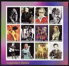 Udmurtia Republic 2001 Legendary Bands #1 imperf sheetlet containing 12 values unmounted mint