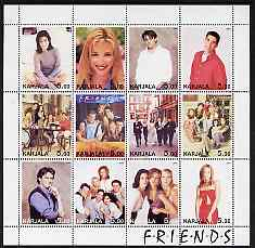 Karjala Republic 2001 Friends (TV Series) perf sheetlet containing 12 values unmounted mint