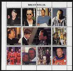 Adigey Republic 2000 Bruce Willis perf sheetlet containing 12 values unmounted mint