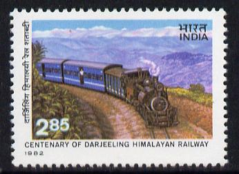 India 1982 Centenary of Darjeeling-Himilayan Railway Centenary unmounted mint SG 1069*