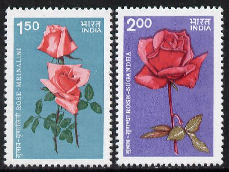India 1984 Roses set of 2 unmounted mint, SG 1141-42