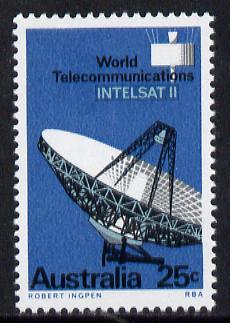Australia 1968 Intelsat II (Radar) unmounted mint SG 419*