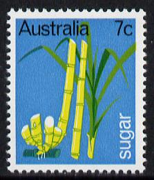 Australia 1969 Primary Industries 7c (Sugar Cane) unmounted mint SG 440*, stamps on agriculture    food    sugar