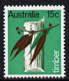 Australia 1969 Primary Industries 15c (Timber) unmounted mint SG 441*, stamps on agriculture, stamps on business, stamps on trees