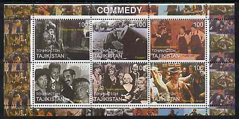 Tadjikistan 2000 The Cinema (Comedy) perf sheetlet containing set of 6 values unmounted mint