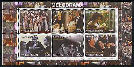 Tadjikistan 2000 The Cinema (Melodrama) perf sheetlet containing set of 6 values unmounted mint