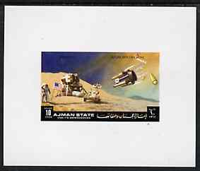 Ajman 1972 Apollo 15 - Moon Landing 10dh deluxe sheetlet unmounted mint