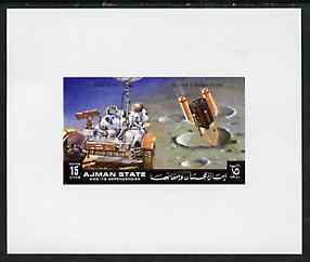 Ajman 1972 Apollo 15 - Moon Rover 15dh deluxe sheetlet unmounted mint