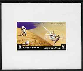 Ajman 1972 Apollo 15 - Space Station 25dh deluxe sheetlet unmounted mint