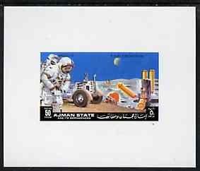 Ajman 1972 Apollo 15 - Moon Base 50dh deluxe sheetlet unmounted mint