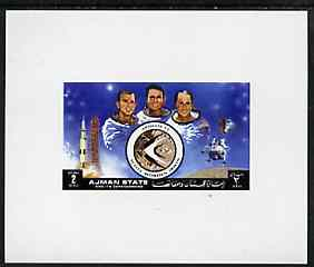 Ajman 1972 Apollo 15 - Astronauts 2r deluxe sheetlet unmounted mint