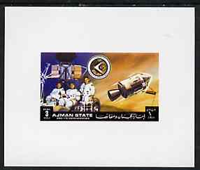 Ajman 1972 Apollo 15 - Crew 3r deluxe sheetlet unmounted mint