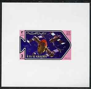 Ras Al Khaima 1971 Space Research - Salyut Project 3r deluxe sheetlet unmounted mint