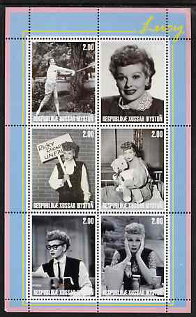 South Ossetia Republic 2001 Lucy (Lucille Ball) perf sheetlet containing 6 values unmounted mint