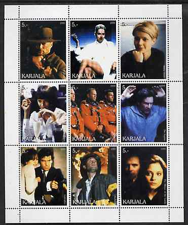 Karjala Republic 2000 Movies Scenes perf sheetlet containing complete set of 9 values unmounted mint